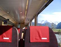 2nd Class Seats Swiss rail photo