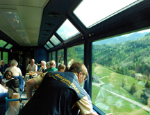 Chocolate Train panoramic car View Window