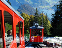 Mt Pilatus Railway and Aerial Cable Tram - Steepest Cog Train above Lake Lucerne