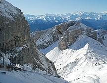 Mt Pilatus Cog Train Down Mounatin Views