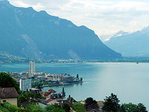 Lake Geneva Montreux View