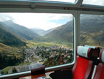 Glacier Express Scenic Window View