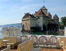 Chateau Chillon View from Lake Geneva Cruise photo