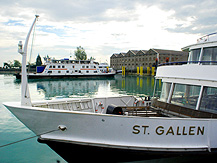 St Gallen Cruise Boat and Ferry at Romanshorn