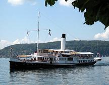Steam Ship Yacht Hoentwiel Lake Constanz