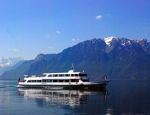 Modern Cruise Boat on Lake Geneva