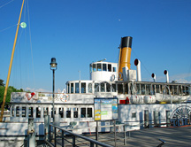 Belle Epoch Steamer Montrux at Dock