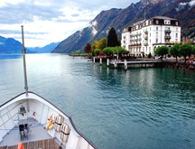 Hotel Waldstatter on Lake Luzern from Cruise Deck