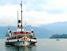 Paddle Steamer on lake Lucerne