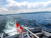 Lake Neuchatel Cruise Boat View