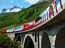Glacier Express on Viaduct