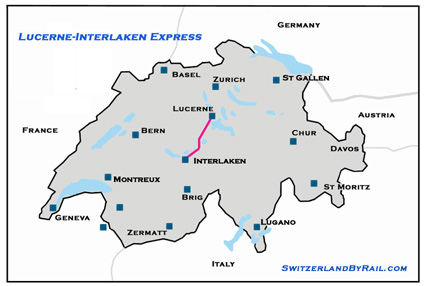 LucerneInterlaken Express LuzernInterlaken Scenic Train over