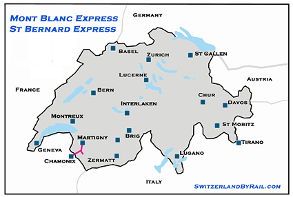 Mont Blanc Express Route Map image
