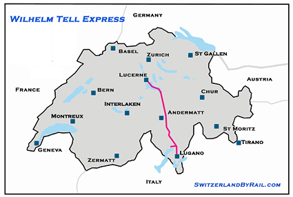 William Tell Express Route Map image